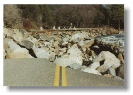 Route 140, damaged